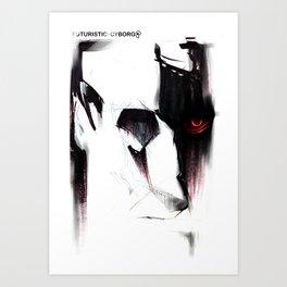 Futuristic Cyborg 5 Art Print