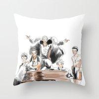 haikyuu Throw Pillows featuring Haikyuu!! Squad by Pruoviare