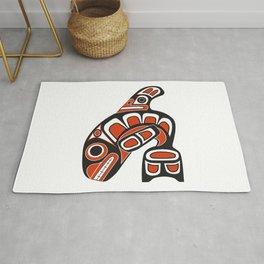 Orca Whale Haida Style Art - Native American Totem Tribal Rug