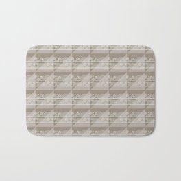 Modern Simple Geometric 3 in Taupe Bath Mat