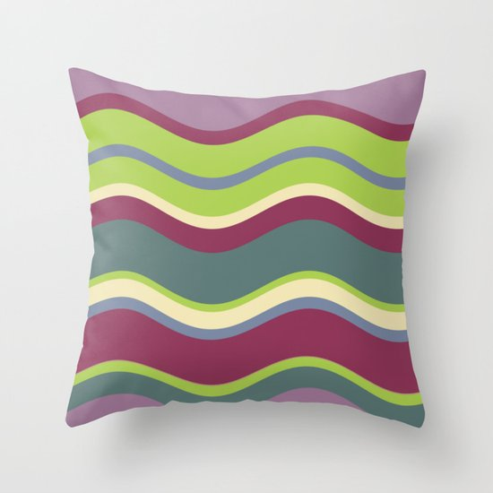 Lavender Shores Throw Pillow