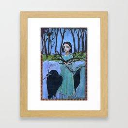 Pick Up Sticks Framed Art Print