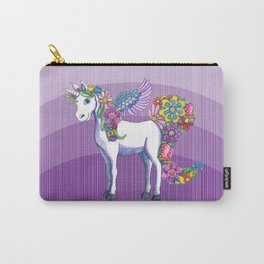 Magical Unicorn in a Hazy Purple Sunset Carry-All Pouch