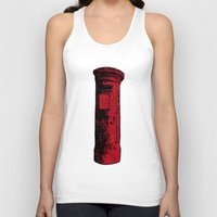 british Tank Tops featuring British Postbox by Carrie at Dendryad Art