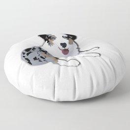 Sadie the Australian Shepherd Floor Pillow