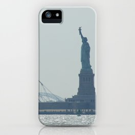 Statue of Liberty from Manhattan iPhone Case