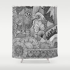 Doodle 3 Shower Curtain