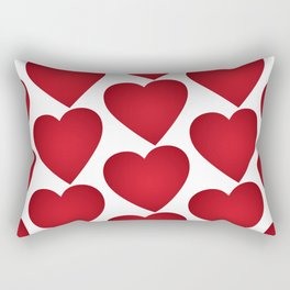 Red heart on white background Rectangular Pillow