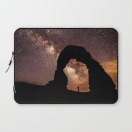 Milky Way Stargazing under a Desert Arch Laptop Sleeve