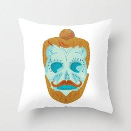 Hipster Tattoo Skull Throw Pillow