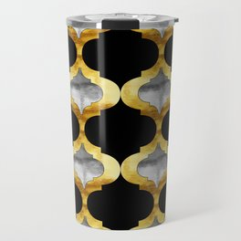 Alhambra Glam Quatrefoil Pattern Travel Mug