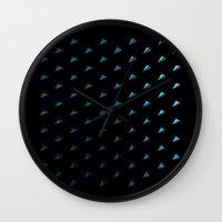 polygon Wall Clocks featuring Polygon by Evi Radauscher