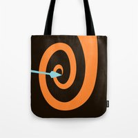 be brave Tote Bags featuring Brave by Citron Vert