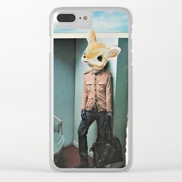 Lamb Man Clear iPhone Case