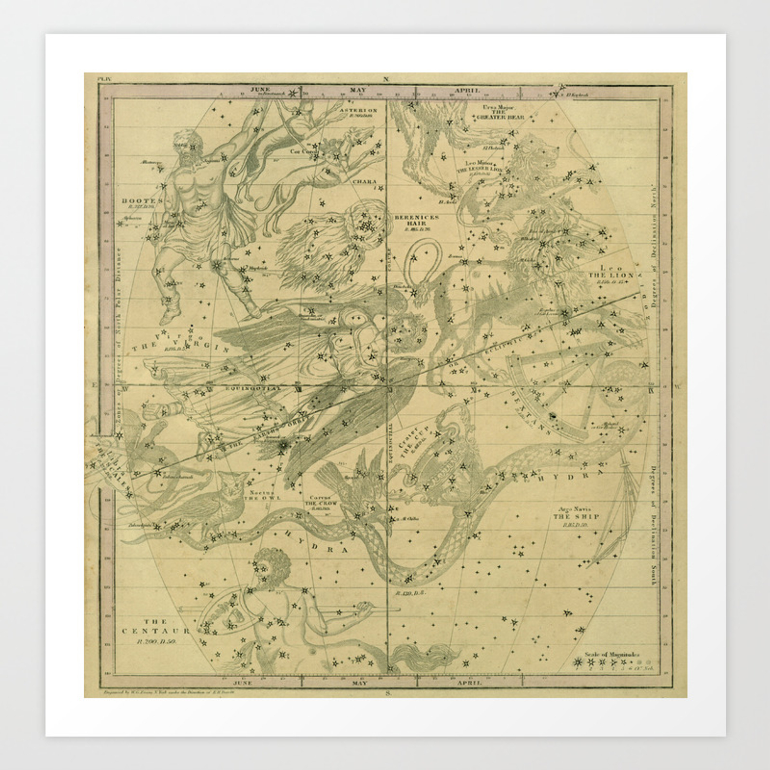 Antique Celestial Map June May April Art Print on locator map, ocean map, star map, classic map, mappa mundi, magic map, traditional map, cats map, silver map, orienteering map, eden map, seasons map, coast to coast map, topological map, no map, street map, twilight map, complete map, human map, beautiful map, route choice, nature map, star catalogue, astral map, sky map, t and o map, geologic map, choropleth map, love map,