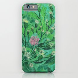 Flowers For Bumblebee, Summer Wildflowers Simple Floral Botanical iPhone Case