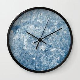 Snowflakes background macro winter Wall Clock
