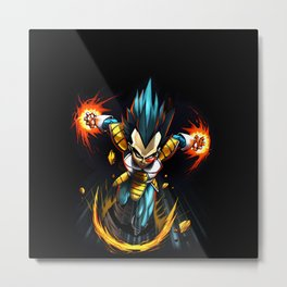 vegeta the war Metal Print