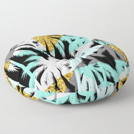 Abstract palm trees modern geometric pattern Floor Pillow