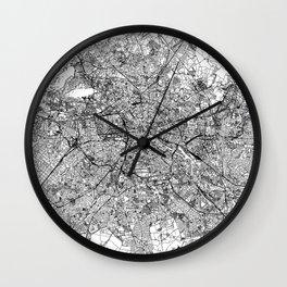 Berlin White Map Wall Clock