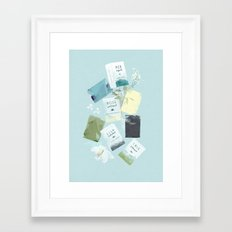 MY BATHROOM - Soaps Framed Art Print