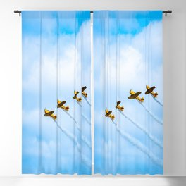 aircraft vintage airplanes aviation Blackout Curtain