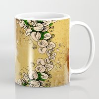 saxophone Mugs featuring Saxophone with flowers by nicky2342