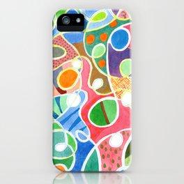 Jubilant Loops Pattern iPhone Case