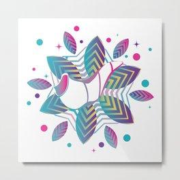 Colorful shofar with patterns Metal Print