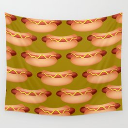 Hotdog Background Wall Tapestry