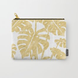 Delicate Monstera Golden #society6 Carry-All Pouch