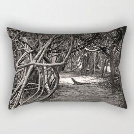 Iguana Go This Way Rectangular Pillow
