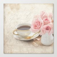 shabby chic Canvas Prints featuring Shabby by Lisa Smith