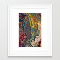 agate Framed Art Prints featuring Agate by Jelly and Paul