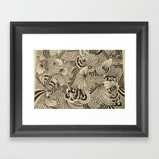 Doodles and Swirls II Framed Art Print