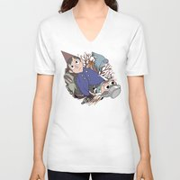 over the garden wall V-neck T-shirts featuring Over the garden wall by podborski