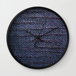 Woven textile Wall Clock