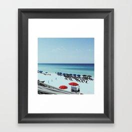 Day at the beach serie #2 Framed Art Print