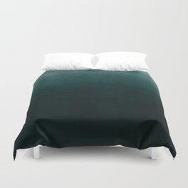 Ombre Emerald Duvet Cover