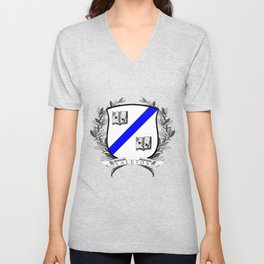 Valeton University Crest Unisex V-Neck
