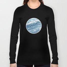 Ocean Water Waves Foam Texture Long Sleeve T-shirt