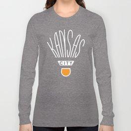 Kansas City Shuttlecock Type - White Long Sleeve T-shirt