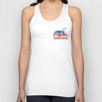 america Tank Tops featuring America by corsetti