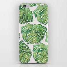 MONSTERA PUG WATERCOLOR iPhone Skin