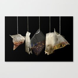 Teabags Hanging in the Air Canvas Print
