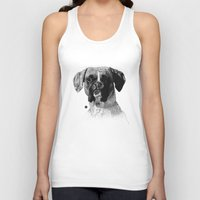 boxer Tank Tops featuring Boxer by Nuria Galceran