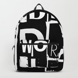 World's Best Dad Black and White Typography Backpack