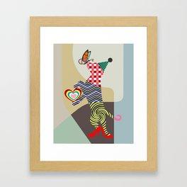 Doggy Dance Framed Art Print