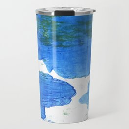 Bleu de France abstract watercolor Travel Mug