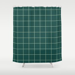 Forest Grid Shower Curtain
